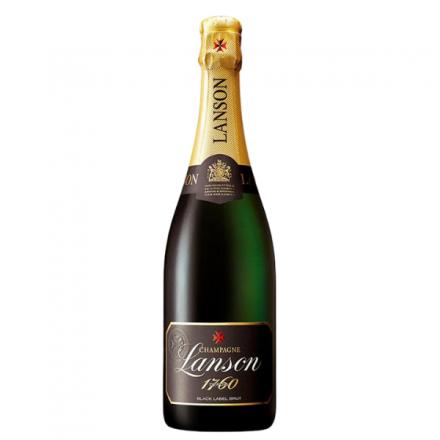 Champagne Label Lanson AOC Brut Black